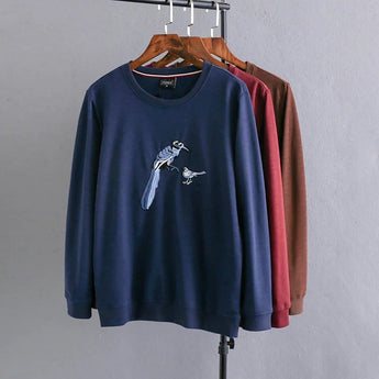 Bird Embroidered Jumper