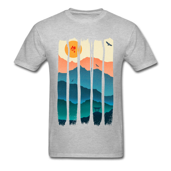 Vintage Hida Sunrise Brush Strokes Graphic T-Shirt