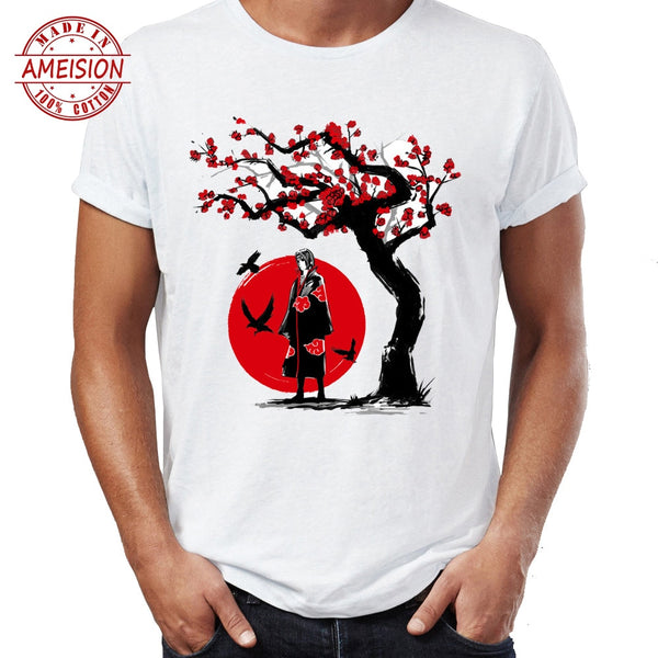 Naruto Under the Cherry Blossom Tree - Graphic T-Shirt