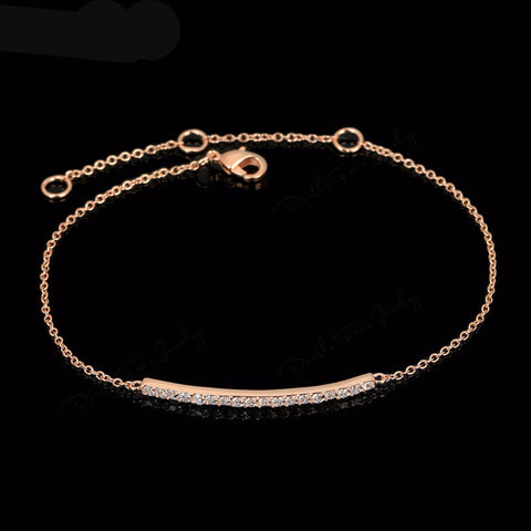 18K Rose Gold Plated/Silver Bracelet - MIMS SIGNATURE