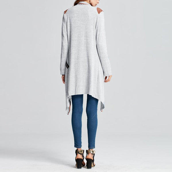 Long Knitted Cardigan - Oeuvre by Qamrosh