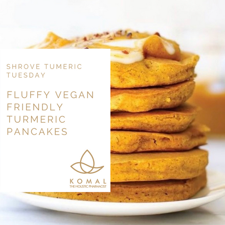 Holistic Recipes - Fluffy Vegan Turmeric Pancakes
