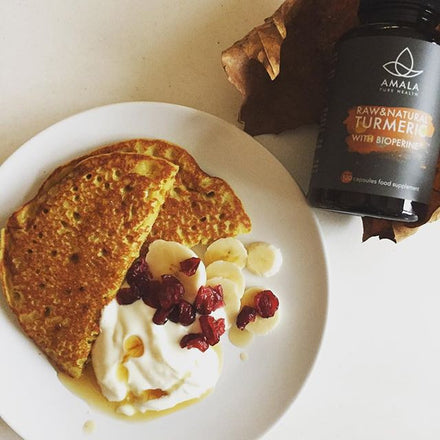 Holistic Recipes - Turmeric Chai Buckwheat Pancakes