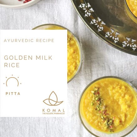Holistic Recipes - Golden Milk Rice