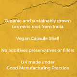 mala Pure Health organic, vegan and pure Turmeric Root with Bioperin capsules