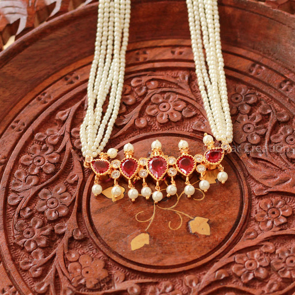 5 Red Stones Fancy tanmani