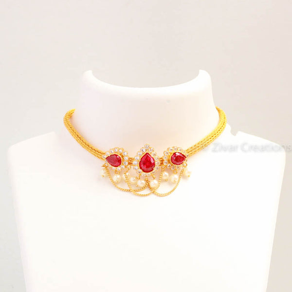 Chain Choker, Choker Necklace, Indian Jewellery
