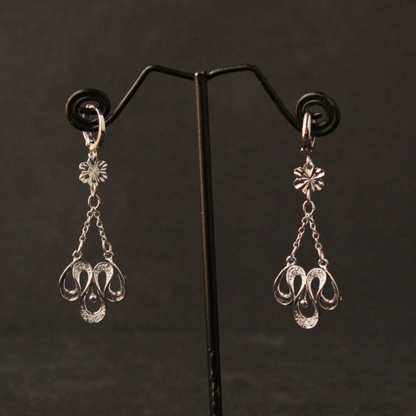 Curve Hanging Earring american diamond studed