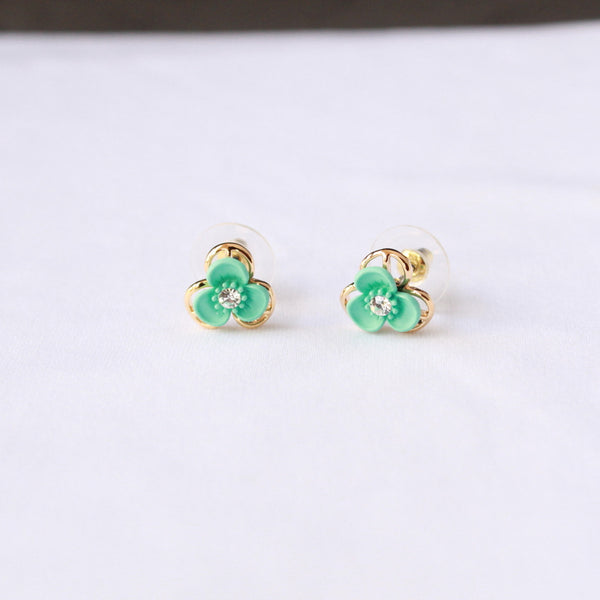 Green Fancy Earring stud