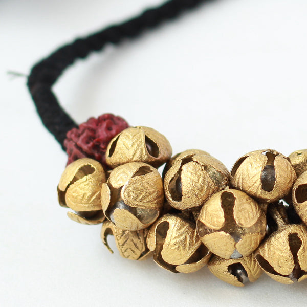 Thread Necklace With Ghungroo.