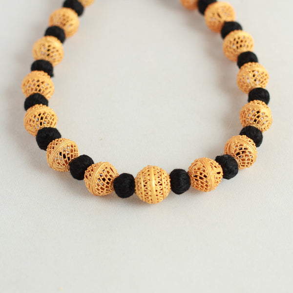 Beads Handcrafted Black Necklace