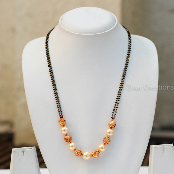 Pearl Geru beads handcrafted Mangalsutra