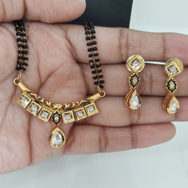 Antique Polish Kundan Mangalsutra