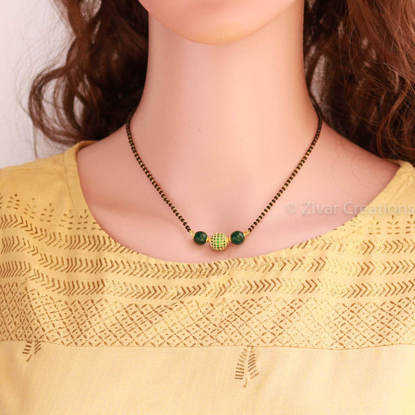 green-ad-stone-studded-mangalsutra