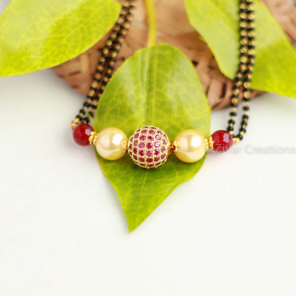 Red AD Stone Studded Mangalsutra