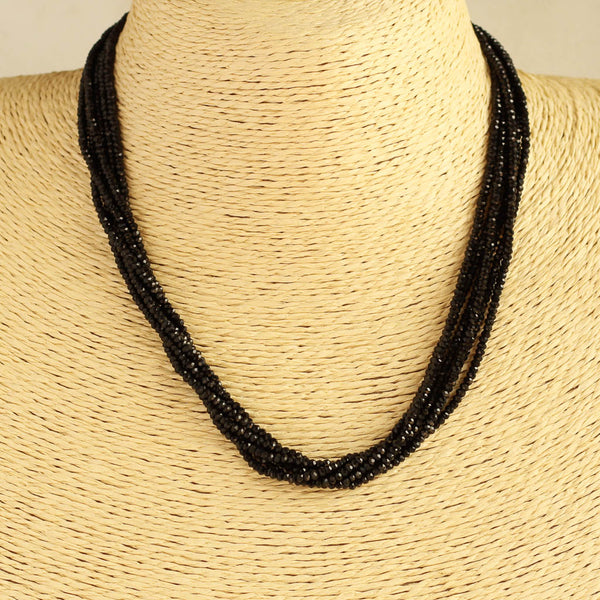 Black Cutting Beads Necklace Mangalsutra