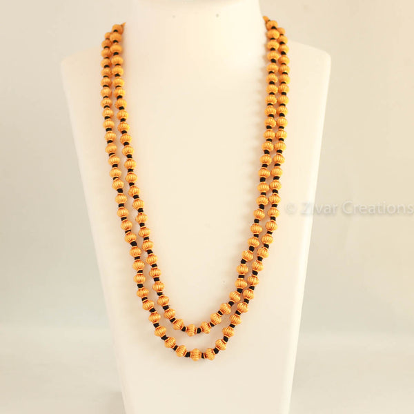 Double line Jomale(black thread) Coorg Wedding Necklace