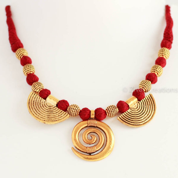 Boho style Necklace, golden german necklace