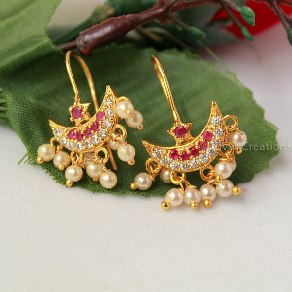 Chandbali American Diamond Earring