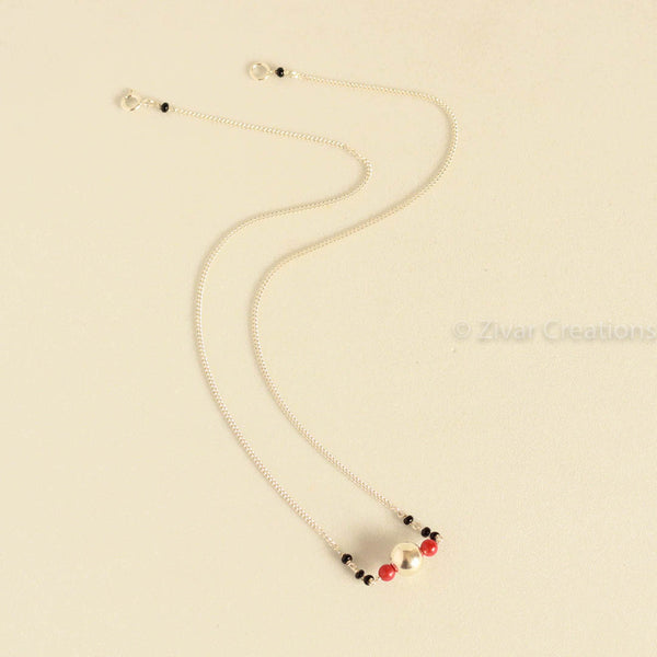 Real Coral Chain Mangalsutra