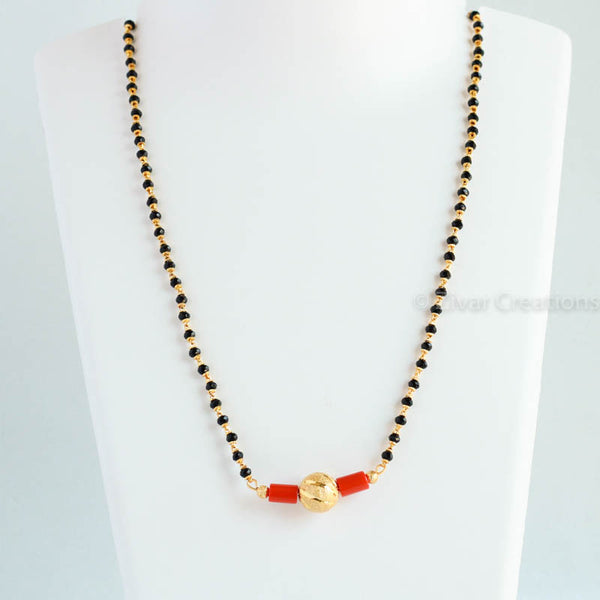 Coral Long Mangalsutra