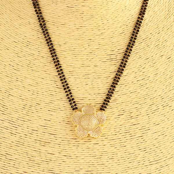American Diamond Flower Mangalsutra