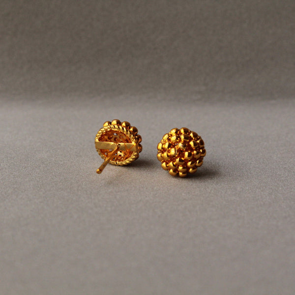 Gold Beads Earring Stud