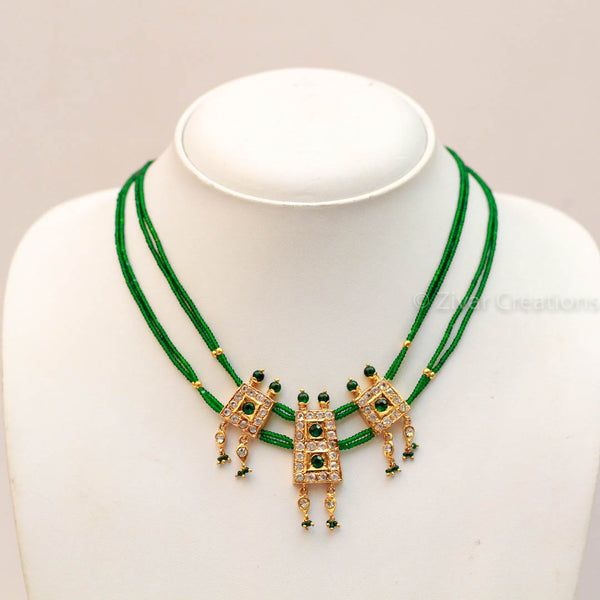 Green Short Handcrafted Necklace