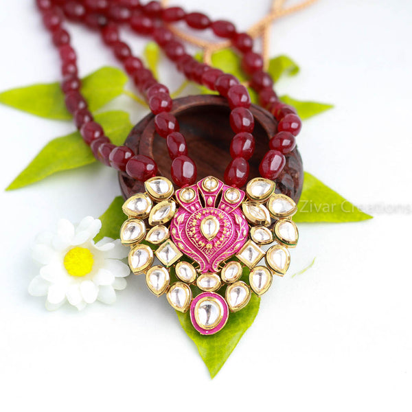 Kundan Red Beads Necklace