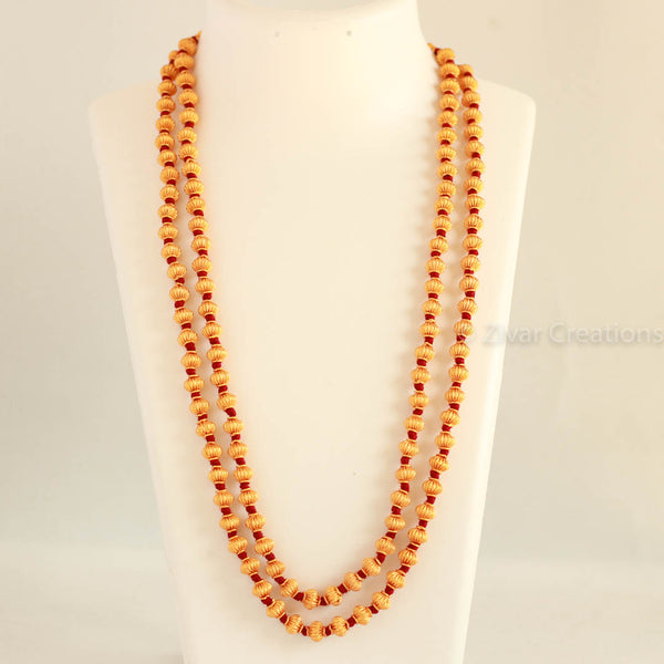 Double line Jomale (maroon thread) Coorg Wedding Necklace