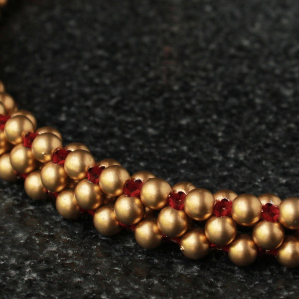 Handcrafted Maroon Thushi