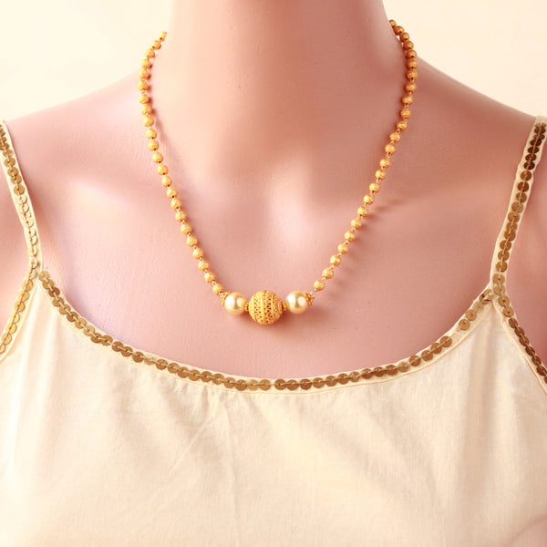 Matte Finish Chain Necklace
