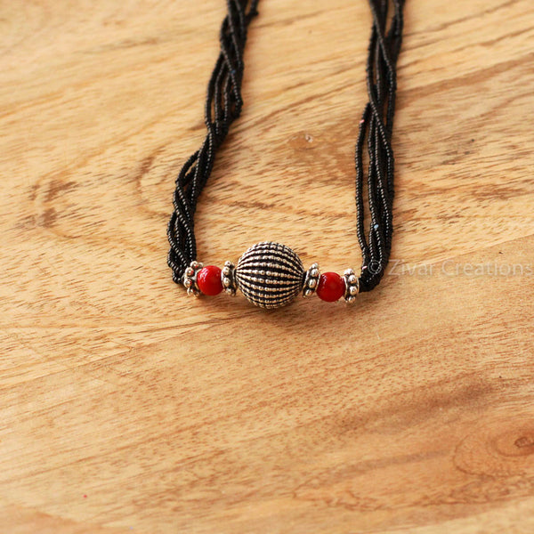 Melon Bead and Coral Mangalsutra