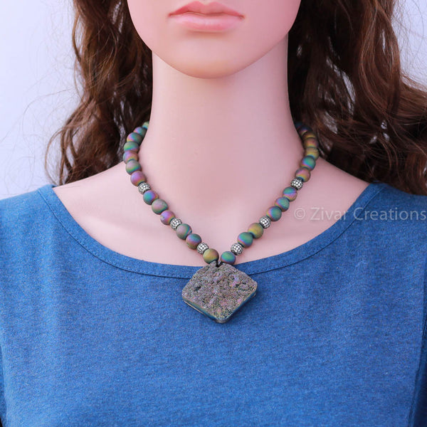 Designer Grey Multicolour Necklace