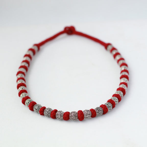 Maroon Beads Necklace