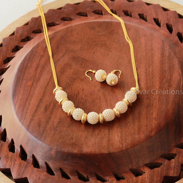 Pearl Jali Beads Delicate Necklace