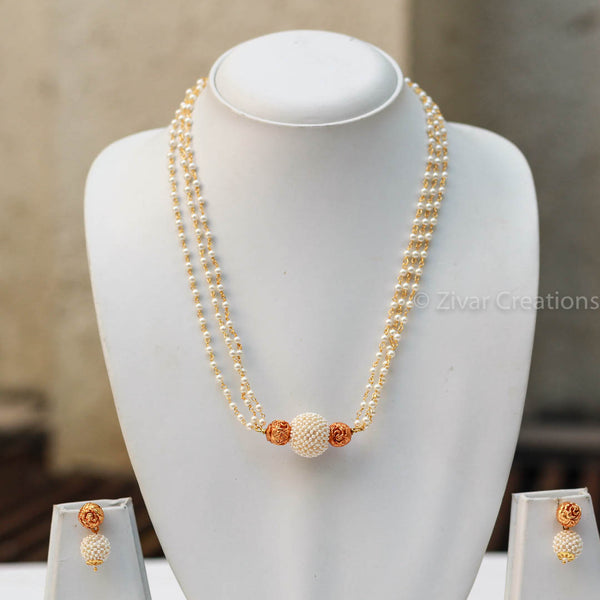 Pearl Geru Beads Necklace