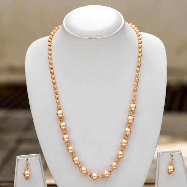 Matte Finish Pearl Handcrafted Necklace