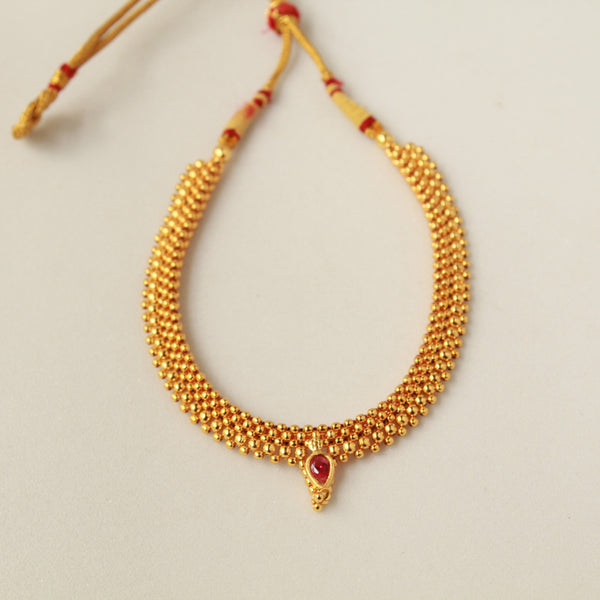 Golden Beads Pendant Base Thushee