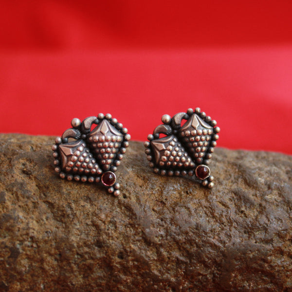 Handcrafted Oxidised Tribal Stud