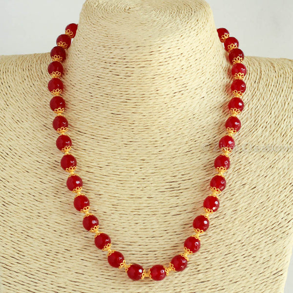 Red Cutting Beads Necklace