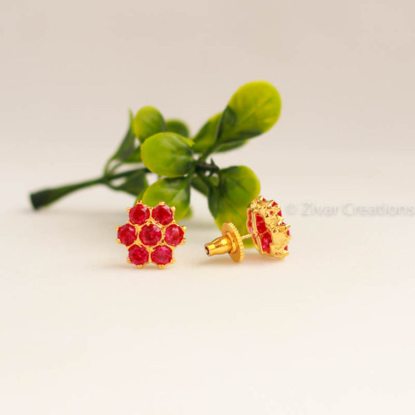 Red Colour Kudi Earring