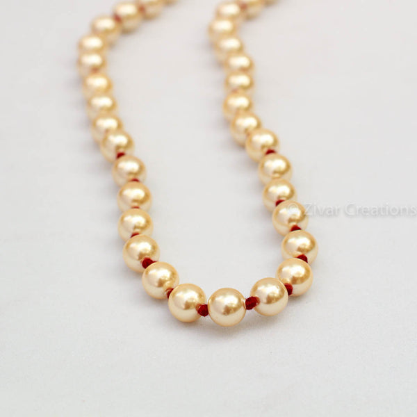Red Thread Pearl Necklace