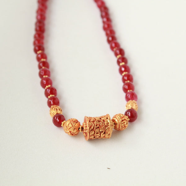Handcrafted Red Beads Necklace