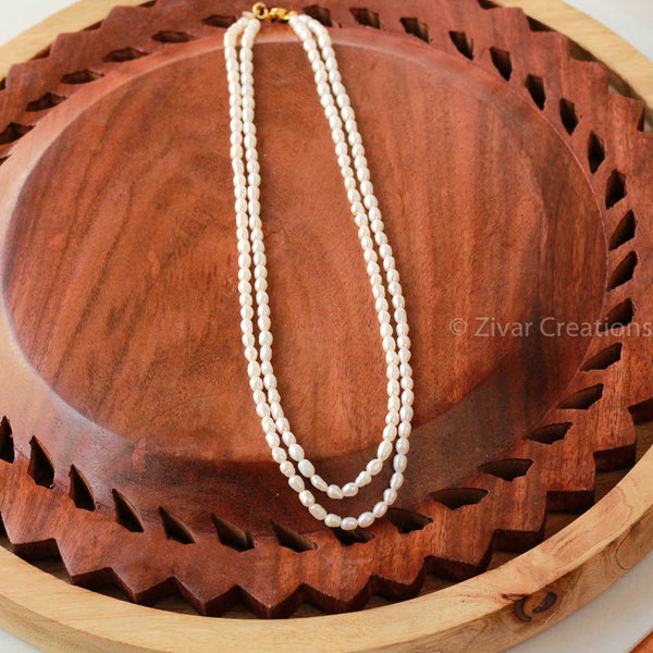 Rice Pearl Handcrafted Necklace
