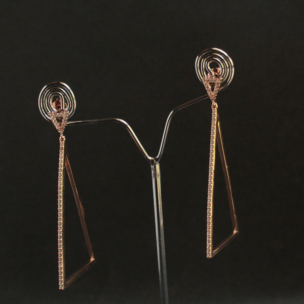 Rose Gold Fancy Earring