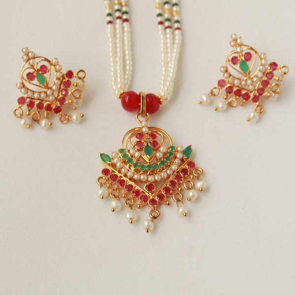 Real Ruby Emerald Handcrafted Set