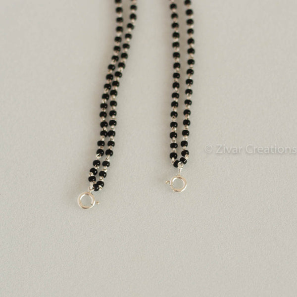 Pure silver mangalsutra chain with changeable lock