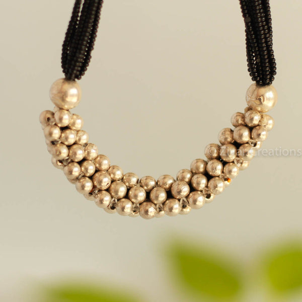Silver Beads Thushi Mangalsutra