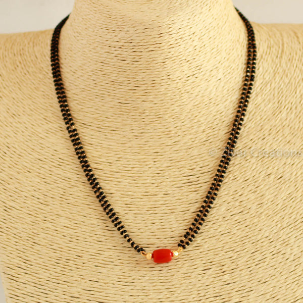 Real Coral Small Handcrafted Mangalsutra